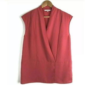 Ro & Do szS Sleeveless Blouse Pink Salmon Boxy